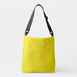 Mjukt vågarmönster - gult + dina idéer axelväska