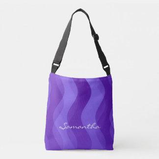 Mjukt vågarmönster - violet + dina idéer axelväska