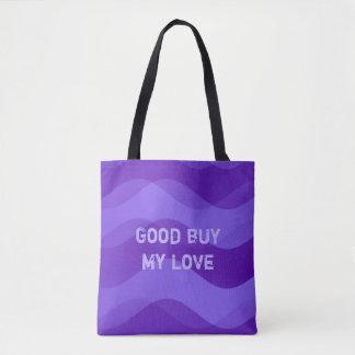 Mjukt vågarmönster - violet + dina idéer tygkasse