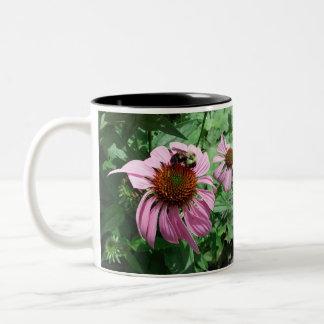 MkFMJ blomma med biet Två-Tonad Mugg