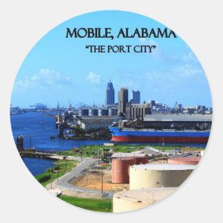 MOBIL ALABAMA - portstaden Runt Klistermärke