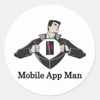 Mobil-App-Man Runt Klistermärke