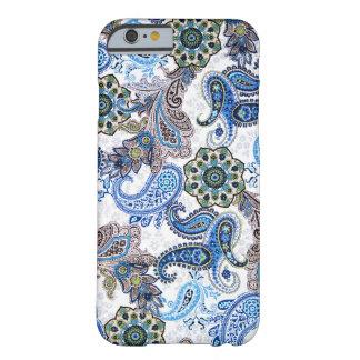 mobila fodral-blått paisley-Björnbär-Samsung Barely There iPhone 6 Skal