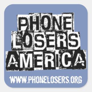 Mobila förlorare av Amerika vid Derreck Fyrkantigt Klistermärke