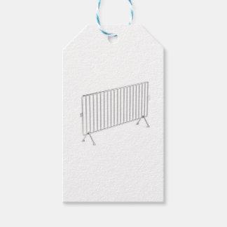 Mobilen stålsätter staket presentetikett