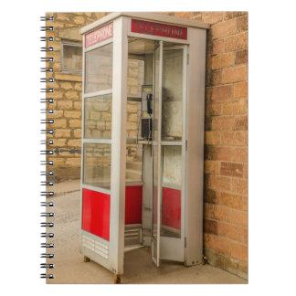 Mobilt bås - löntelefon - Payphone - offentlig Anteckningsbok