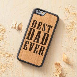 Mobilt fodral för bäst för pappa trä någonsin iPhone 6 bumper fodral i körsbärsträ