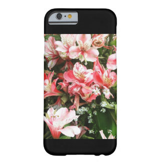 Mobilt fodral för flickaktigt rosa blommor barely there iPhone 6 skal