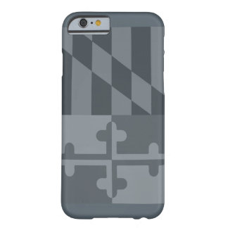 Mobilt fodral för Maryland flagga (lodrät) - grå Barely There iPhone 6 Skal