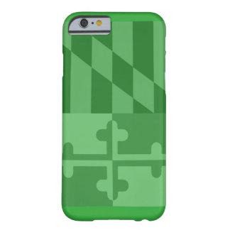 Mobilt fodral för Maryland flagga (lodrät) - grönt Barely There iPhone 6 Fodral