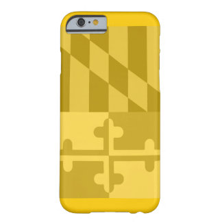 Mobilt fodral för Maryland flagga (lodrät) - gult Barely There iPhone 6 Fodral