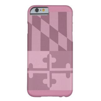 Mobilt fodral för Maryland flagga (lodrät) - rosa Barely There iPhone 6 Skal