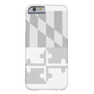 Mobilt fodral för Maryland flagga (lodrät) - vit Barely There iPhone 6 Skal