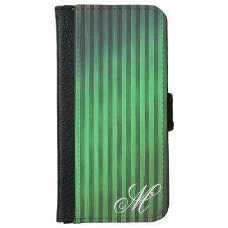 Mobilt fodral för Monogrammed gröna randar