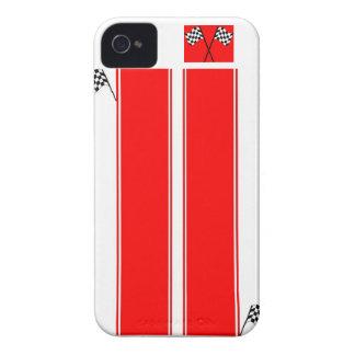 Mobilt fodral för röd tävlings- cell för iPhone 4 fodraler