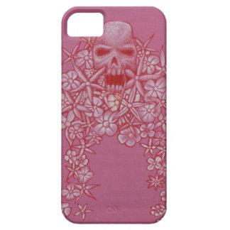 Mobilt fodral för skalle och för blomma barely there iPhone 5 fodral