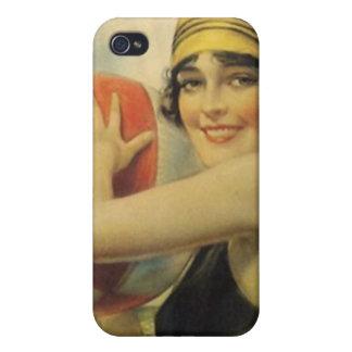 mode för vintage för flicka för klaff för fodral iPhone 4 cover