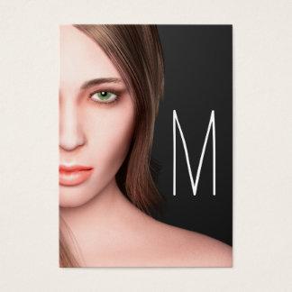 ModeflickaMonogram Visitkort