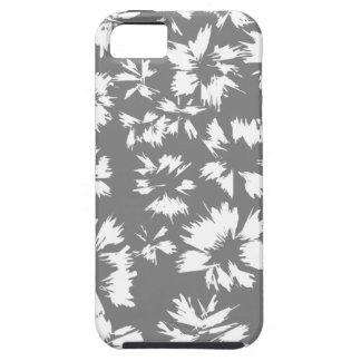 Modell för snyggtgrått- och vitblommigt iPhone 5 Case-Mate fodral