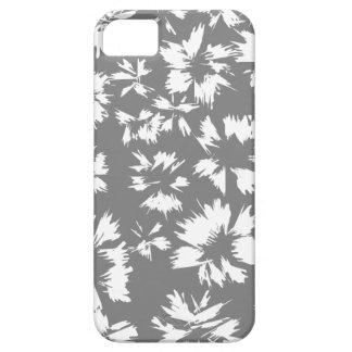 Modell för snyggtgrått- och vitblommigt iPhone 5 cover