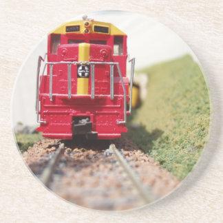 Modellera att resa med tåg underlägg sandsten
