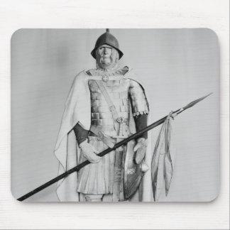 Modellera av en Carolingian cavalryman Musmatta