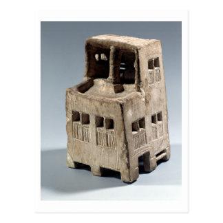 Modellera av ett hus (limestone) vykort