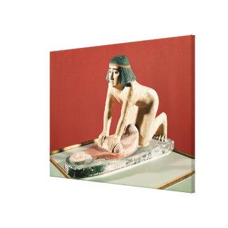 Modellera av ett malande korn för kvinna, gammalt  canvastryck