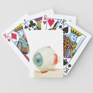Modellera människaögat som isoleras på vit spelkort