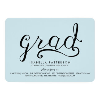 Moderiktig akademiker pastellfärgad 12,7 x 17,8 cm inbjudningskort