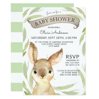 Moderiktig baby shower för kaninkanintema 12,7 x 17,8 cm inbjudningskort
