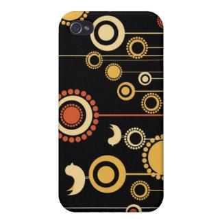 Moderiktig blom- dekor iPhone 4 cover