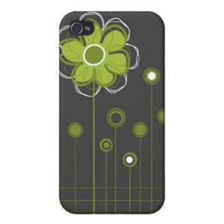 Moderiktig blom- dekor iPhone 4 fodral