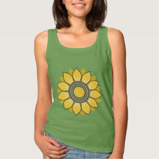 Moderiktig blom- design linne
