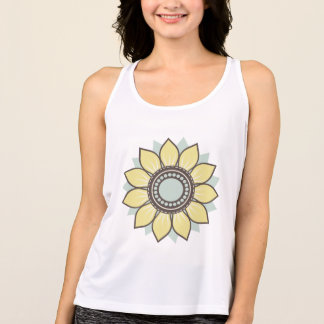 Moderiktig blom- design t-shirt