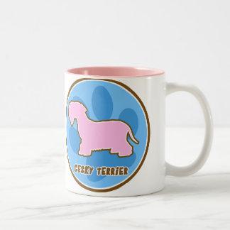Moderiktig Cesky Terrier Två-Tonad Mugg