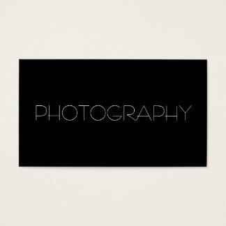 Moderiktig fotograf för snyggtsvartvit visitkort