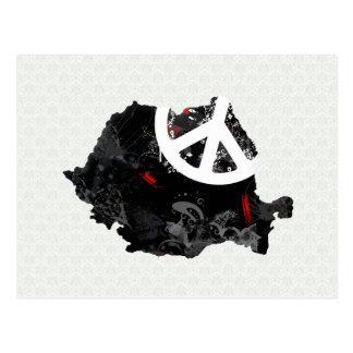 Moderiktig fredstecken för rumänien med den vykort