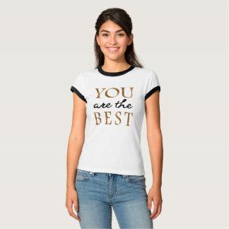 Moderiktig guld- och svarttypografi tee shirts
