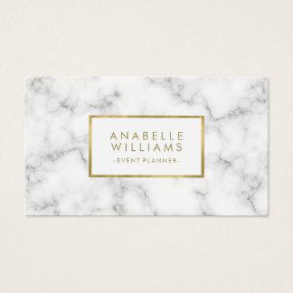 Moderiktig guld- struktur för marmor och för Faux Visitkort