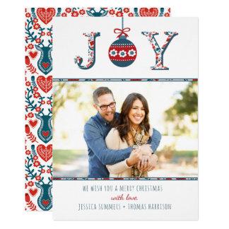 """Moderiktig julkort för foto """"för glädje"""" Boho 12,7 X 17,8 Cm Inbjudningskort"""