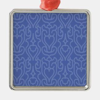 Moderiktig marockansk blått skuggar mönster julgransprydnad metall