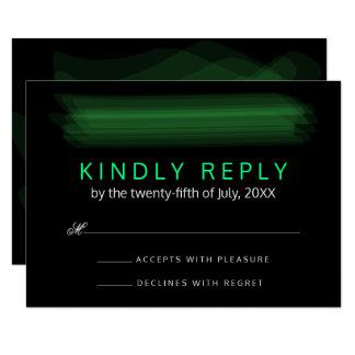 Moderiktig Minimalist elegant vårgrönt för OSA 8,9 X 12,7 Cm Inbjudningskort