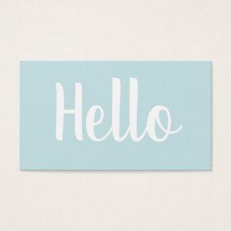 Moderiktig minimalist sätta en klocka på visitkort