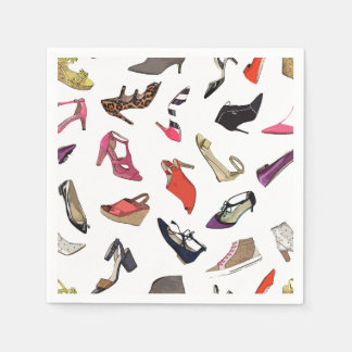 Moderiktig mode skor pappra servetter