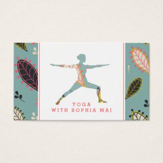 Moderiktig modern Boho Yogainstruktör Visitkort