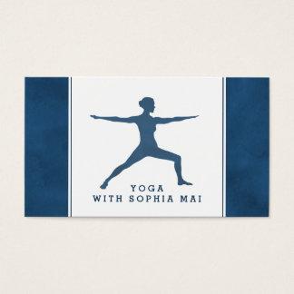 Moderiktig modern marinblå Yogainstruktör Visitkort