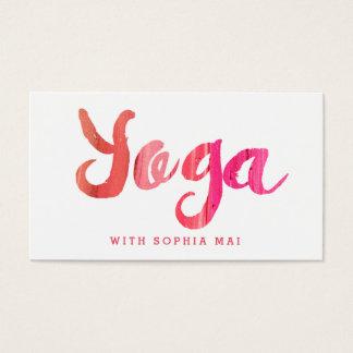 Moderiktig modern rosa Yogainstruktör Visitkort