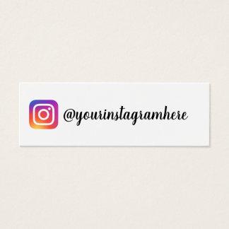 moderiktig modern visitkort för instagramlutning
