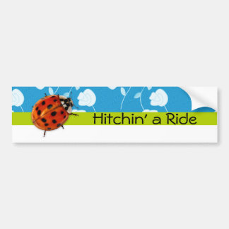 Moderiktig nyckelpiga Hitchin en ritt Bildekal